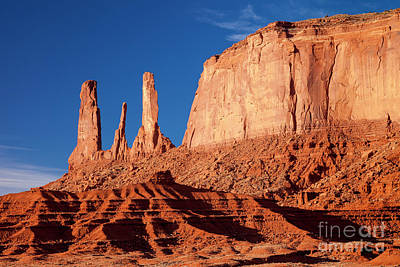 Photograph - Three Sisters - Monument Valley by Brian Jannsen