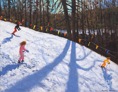 Painting - Three Valleys Skiing 2018 by Andrew Macara