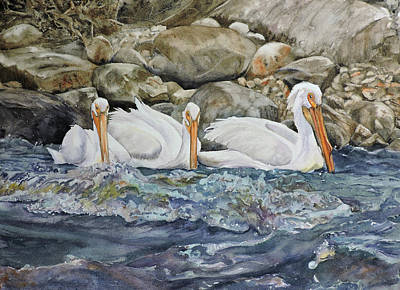 Painting - Three's Company by Vicky Lilla