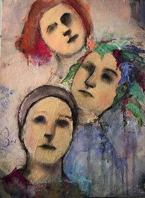 Painting - Threes by Debbie Callahan