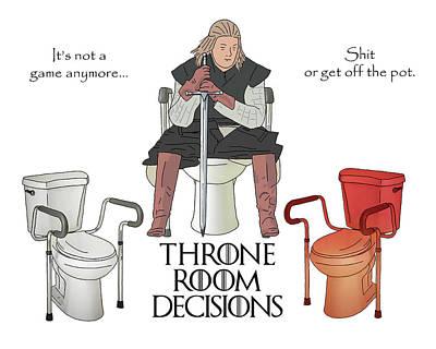 Digital Art - Throne Room Decisions by John Haldane