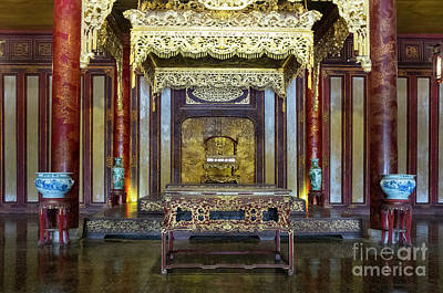 Door Locks And Handles - Throne Room in the Thai Hoa Palace by Kenneth Lempert