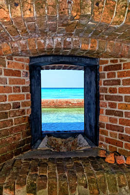 Photograph - Through An Armory Window, Dry Tortugas by Kay Brewer