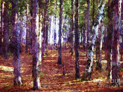 Digital Art - Through The Forest by Phil Perkins