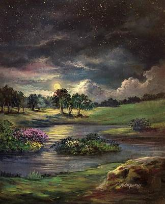 Painting - Thunder Moon by Randy Burns