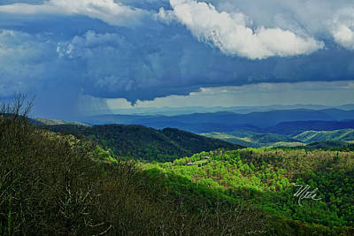 Photograph - Thunder Mountain Overlook Distant Rain by Meta Gatschenberger