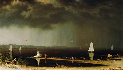 Thunder Storm On Narragansett Bay Art Print