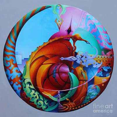 Painting - Thunderball by Symona Colina