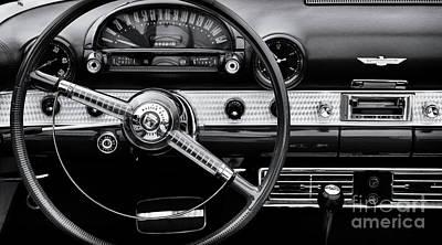 Photograph - Thunderbird Interior Monochrome by Tim Gainey
