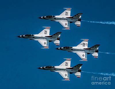 Photograph - Thunderbirds Formation by Nick Zelinsky