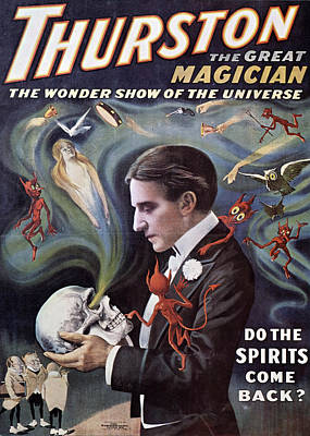Painting - Thurston Great Magician, Wonder Show Of by David Spindel