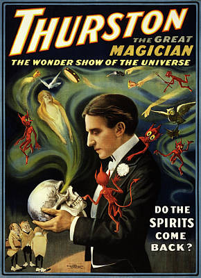 Photograph - Thurston The Great Magician by Doc Braham
