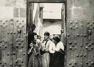Photograph - Tiberias Ancient Stone Doors 1894 by Munir Alawi
