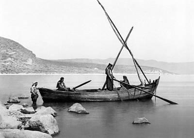 Photograph - Tiberias Black And White by Munir Alawi