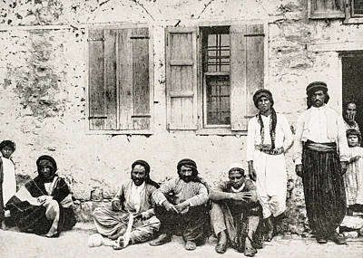 Photograph - Tiberias Fishermen 1894 by Munir Alawi