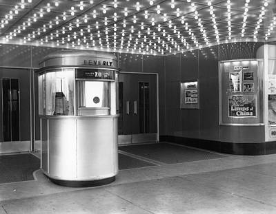 Photograph - Ticket Booth At Beverly Theater by Chicago History Museum
