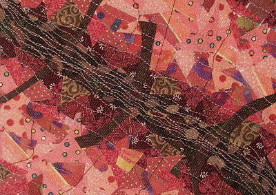 Tapestry - Textile - Tickled Pink by Pam Geisel