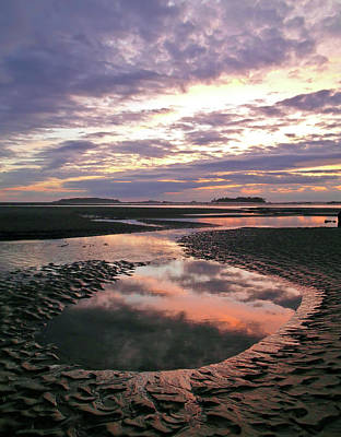 Photograph - Tidal Pool With Reflected Clouds by Joseph Shields