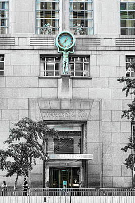 Photograph - Tiffany Blue Clock by Sharon Popek
