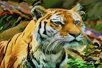 Painting - Tiger A18-220 by Ray Shrewsberry