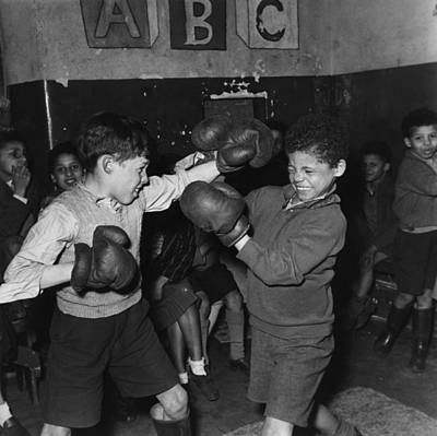 Child Photograph - Tiger Bay Boxers by Bert Hardy