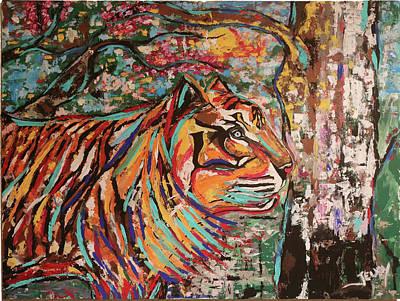 Animal Painting - Tiger by Jeff Jeudy