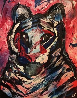 Mixed Media - Tiger by Kate Hart Nardone