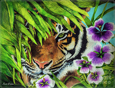 Animals Drawings - Tiger Lily by Scott Parker