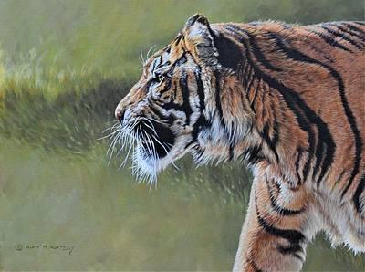 Painting - Tiger Portrait By Alan M Hunt by Alan M Hunt