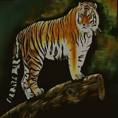 Painting - Tiger  by Taiche Acrylic Art