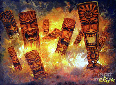 Painting - Tiki Hot Spot by CBjork