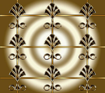 Digital Art - Tiled Deco 1 by Chuck Staley