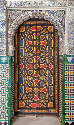 Photograph - Tiled Door Of Sevilla by David Letts