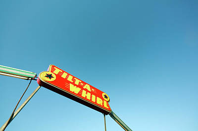Photograph - Tilt-a-whirl Sign by Todd Klassy