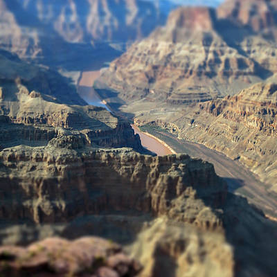 Photograph - Tiltshifted Grand Canyon by Dave Matchett