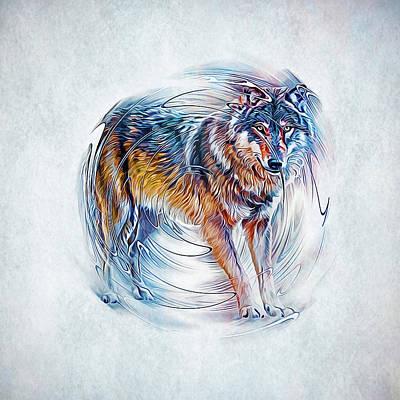 Animals Digital Art - Timber Wolf by Ian Mitchell