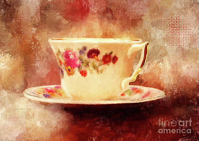 Digital Art - Time For Tea by Lois Bryan