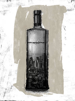 Mixed Media - Time In A Bottle 1- Art By Linda Woods by Linda Woods
