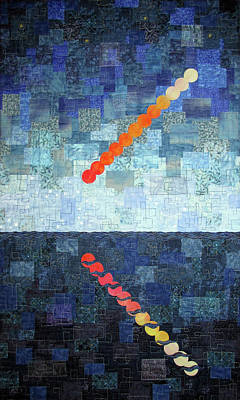 Tapestry - Textile - Time Lapse Moon Rise by Pam Geisel