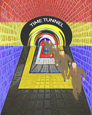 Digital Art - Time Tunnel by John Haldane