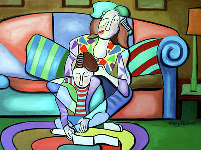 Painting - Time With Mom by Anthony Falbo