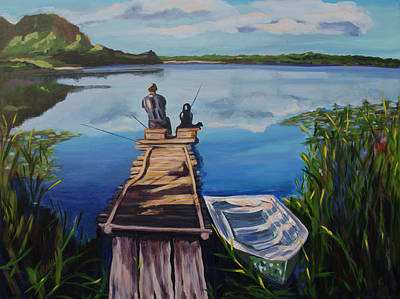 Painting - Time With The Father by Claudia Klann