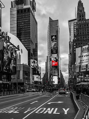 Photograph - Times Square by Chris Montcalmo
