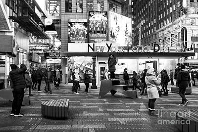 Photograph - Times Square Moments At Night New York City by John Rizzuto