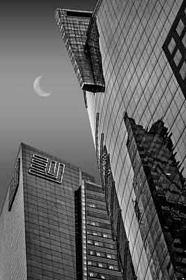 Photograph - Times Square New York City Ny Bw by Susan Candelario