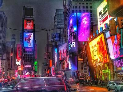 Photograph - Times Square - The Light Fantastic 2016 by Christopher Lotito