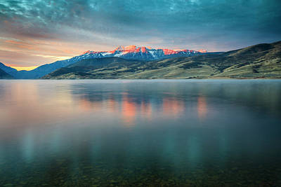 Photograph - Timp Blue Dawn Reflection by Johnny Adolphson