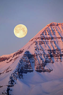 Photograph - Timpanogos Moonset by Johnny Adolphson