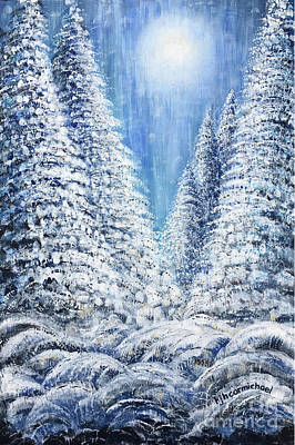Painting - Tim's Winter Forest 2 by Holly Carmichael