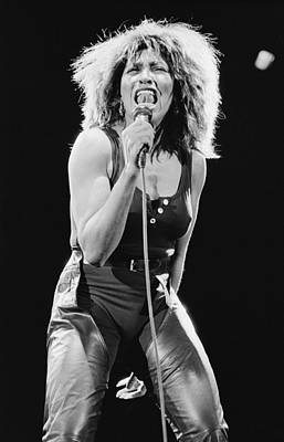 Photograph - Tina Turner by Fin Costello
